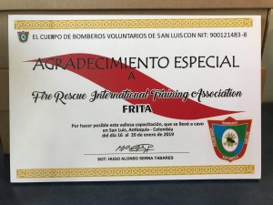 Certificate of Appreciation 2019
